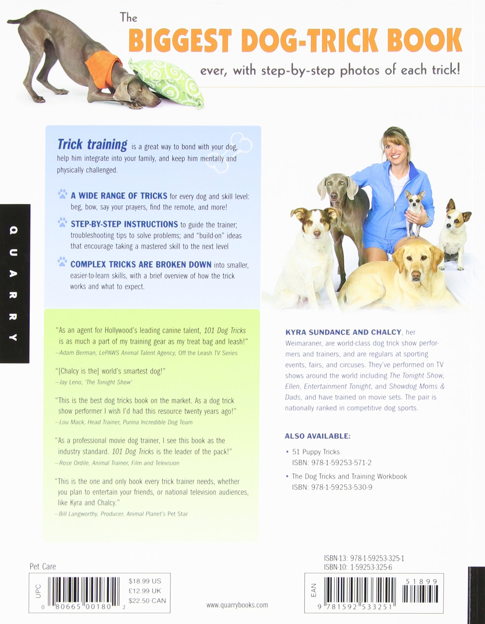 101 Dog Tricks: Step by Step Activities to Engage, Challenge, and Bond with  Your Dog: Amazon.co.uk: Kyra Sundance: 9781592533251: Books