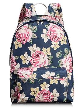 Mochila escolar con flores para niñas, para las mujeres Laptop ...