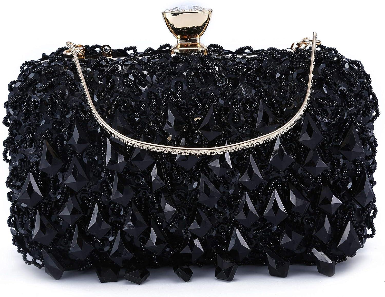 UBORSE Women Clutch Wedding Purse Rhinestone Crystal Beaded Bags Cocktail Party Bridal Prom Handbag for Women
