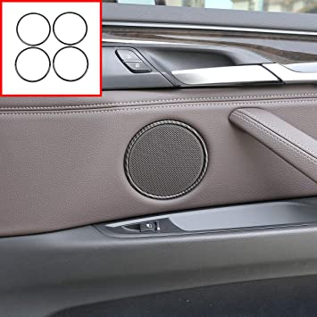4PCS ABS Inner Door Lock Cover Trim Decoration for BMW X5 F15 X6 F16 2015-2018