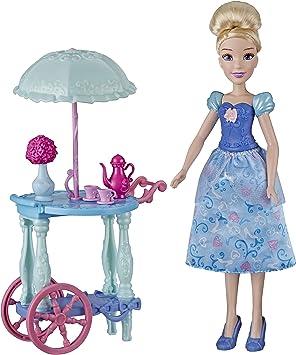 Disney Princess Cinderella Fashion Doll with Tea Cart Accessory
