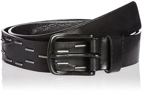 Diesel B-NIGHT Ceinture de ceinture en cuir véritable pour homme noir (Noir, 2c324dc02d7