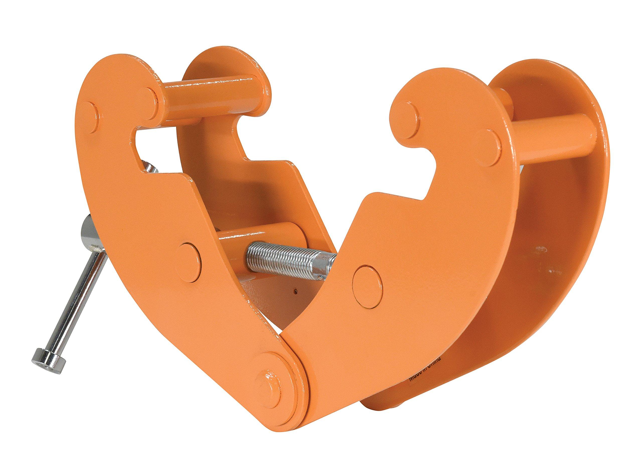 Vestil BC-2 Steel Beam Clamp, 2000 lbs Capacity, 3-1/8'' to 9-5/8'' Flange Width
