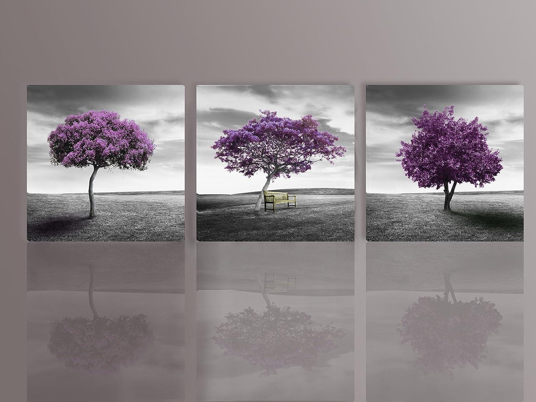 Grey And Purple Wall Art