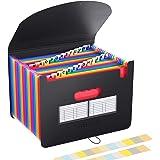 Expanding Files Folder Organizer 24 Pockets/Expandable Accordian File Organizer Bag A4/Letter Size Plastic Filing Box…