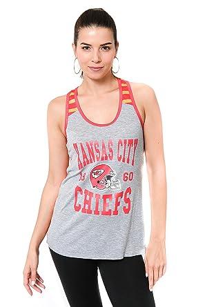purchase cheap 39e2f b919c Ultra Game NFL Kansas City Chiefs Women's Jersey Tank Top Sleeveless Mesh  Tee Shirt, Team Color, Small