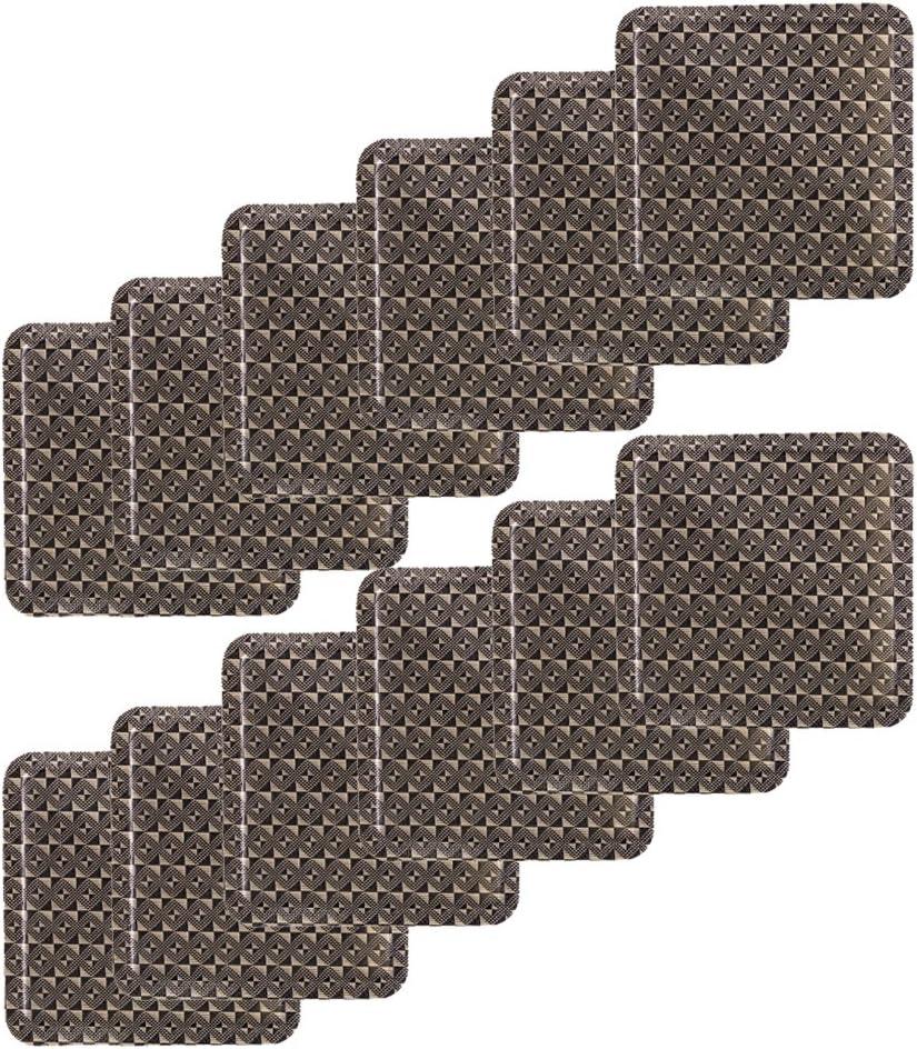 3.93in*3.93in Eldetu Premium en PVC Dessous de Verre Lot de 12//étanche r/ésistant /à lhuile haute r/ésistance /à la temp/érature A3
