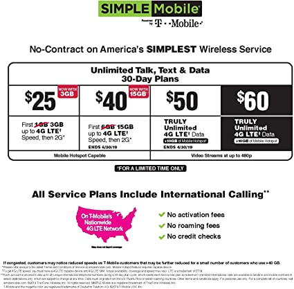 Unlimited Hotspot Plans >> Simple Mobile Refill Card 40 Reup Prepaid Airtime Card