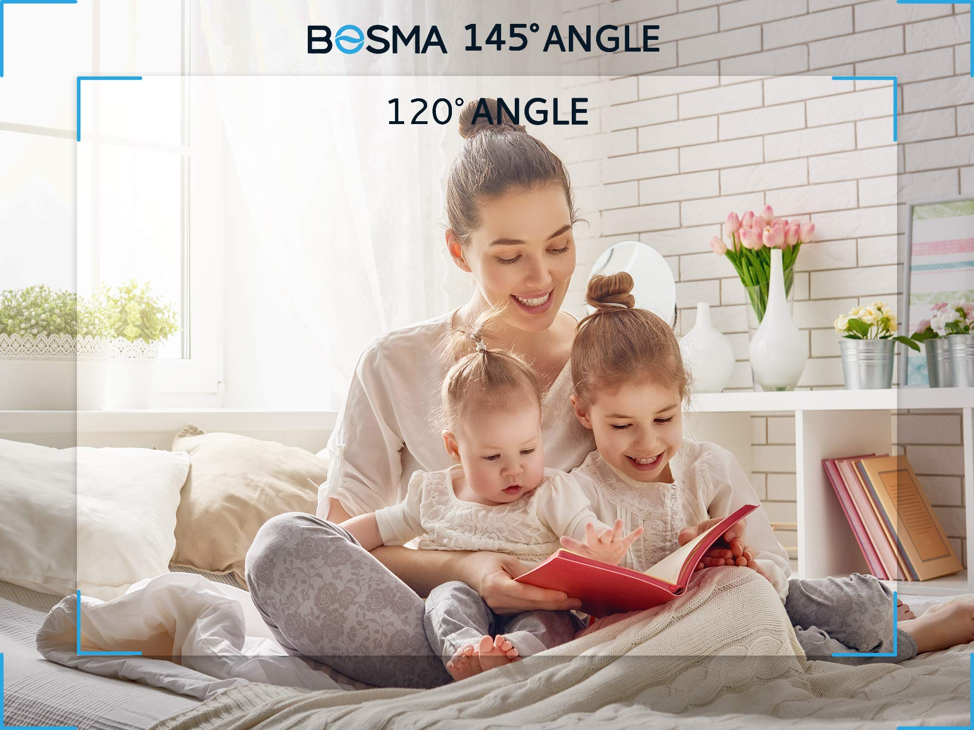Bosma Video Baby Monitor with Phone app, 1080p HD WiFi Camera with 2 Way Audio, Night Vision, Sound and Motion Detection, Cloud Storage, Perfect for Travel Parents and Elderly, Compatible for iPhone