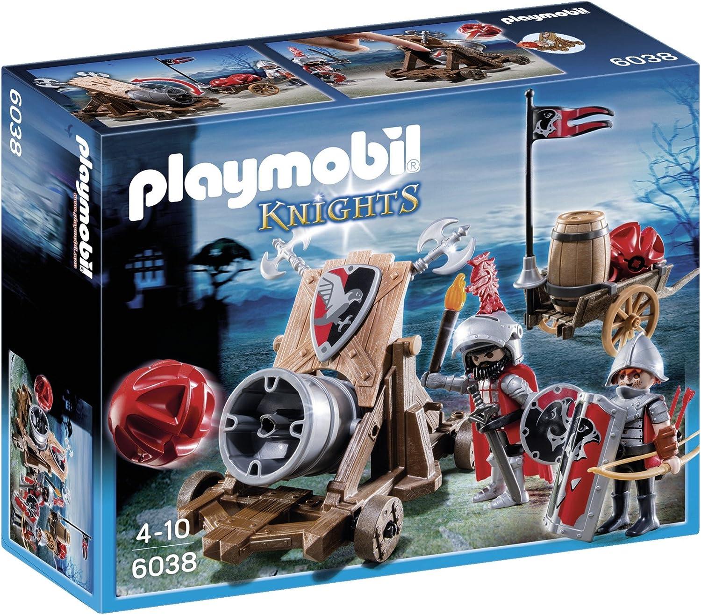 Playmobil Caballeros del Halcón con Cañón 6038: Amazon.es: Juguetes y juegos