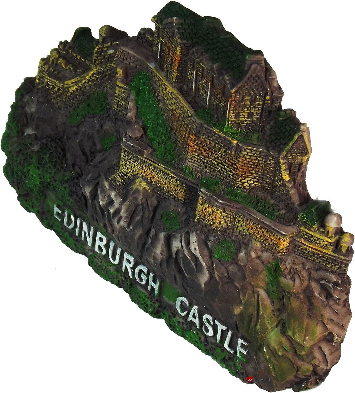 Resin Scottish Fridge Magnet with Edinburgh Castle Design