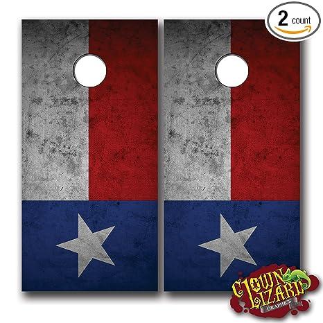Top Amazon.com : CL0017 Texas Flag Distressed CORNHOLE LAMINATED DECAL  LA29