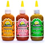 Organic Hot Sauce Variety Pack by Yellowbird | Plant-Based, Gluten Free, Non-GMO | Homegrown in Austin | 9.8 oz (3-Pack)