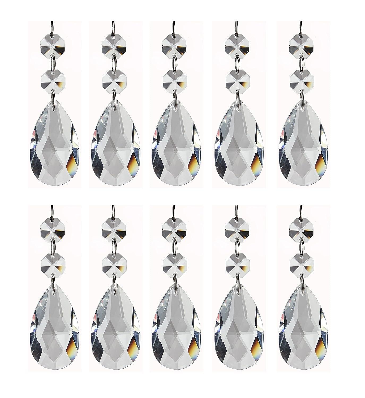 Amazon pendants teardrop chandelier crystal pendants glass amazon pendants teardrop chandelier crystal pendants glass pendants beads pack of 12 arts crafts sewing aloadofball Images
