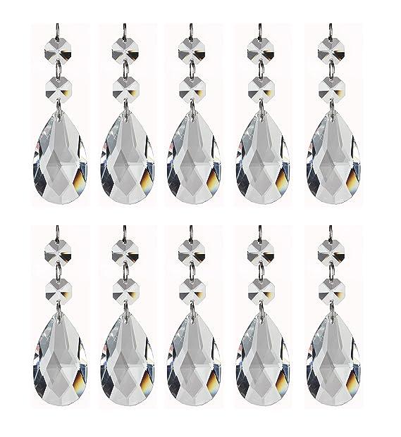 Amazon.com: Colgantes de cristal para candelabro de ...