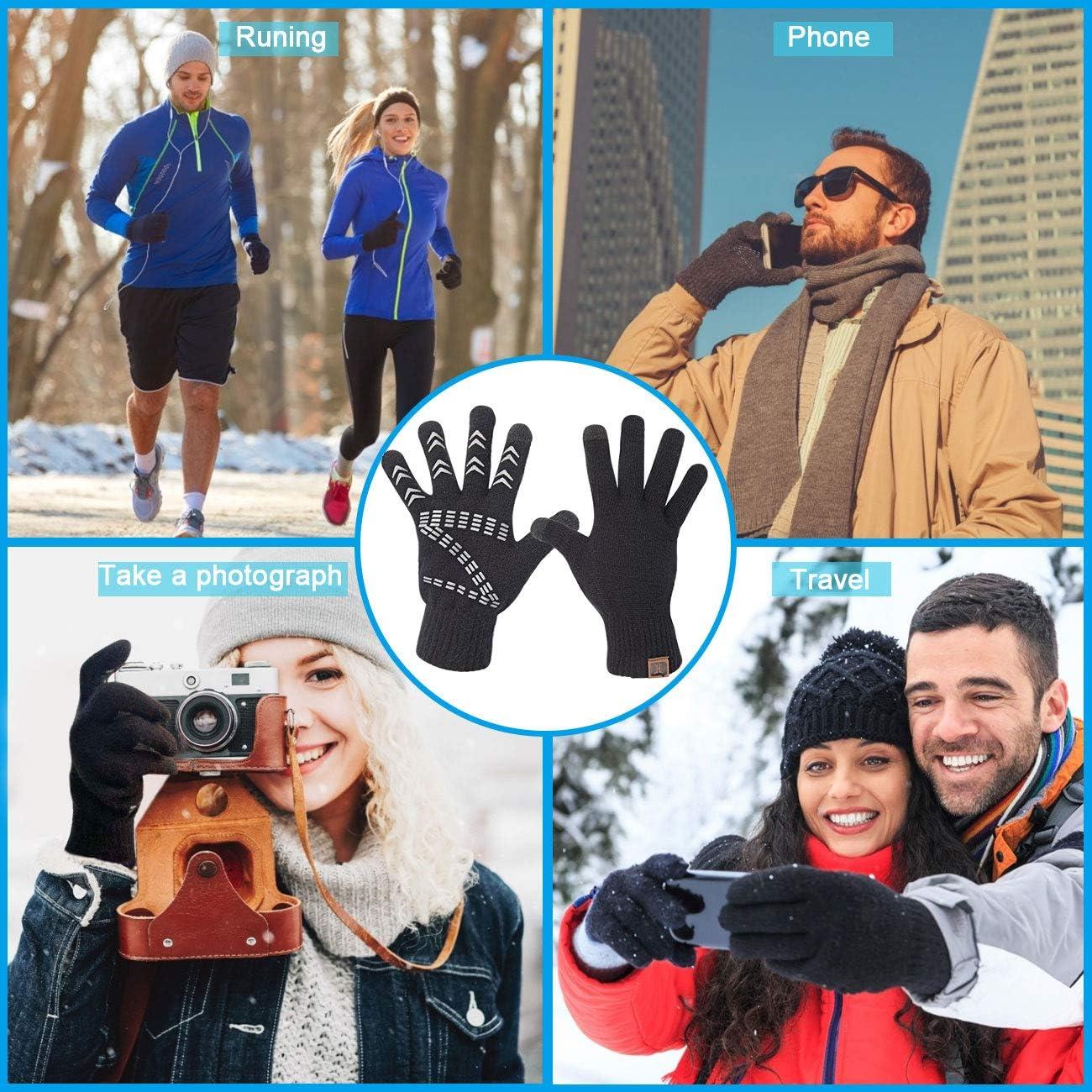 Perfetto per Mandare Messaggio Digitare Smartphone Guanti Touch Screen da 24cm per Uomo e Donna Unisex Maylisacc Guanti a Maglia Termiche Invernale
