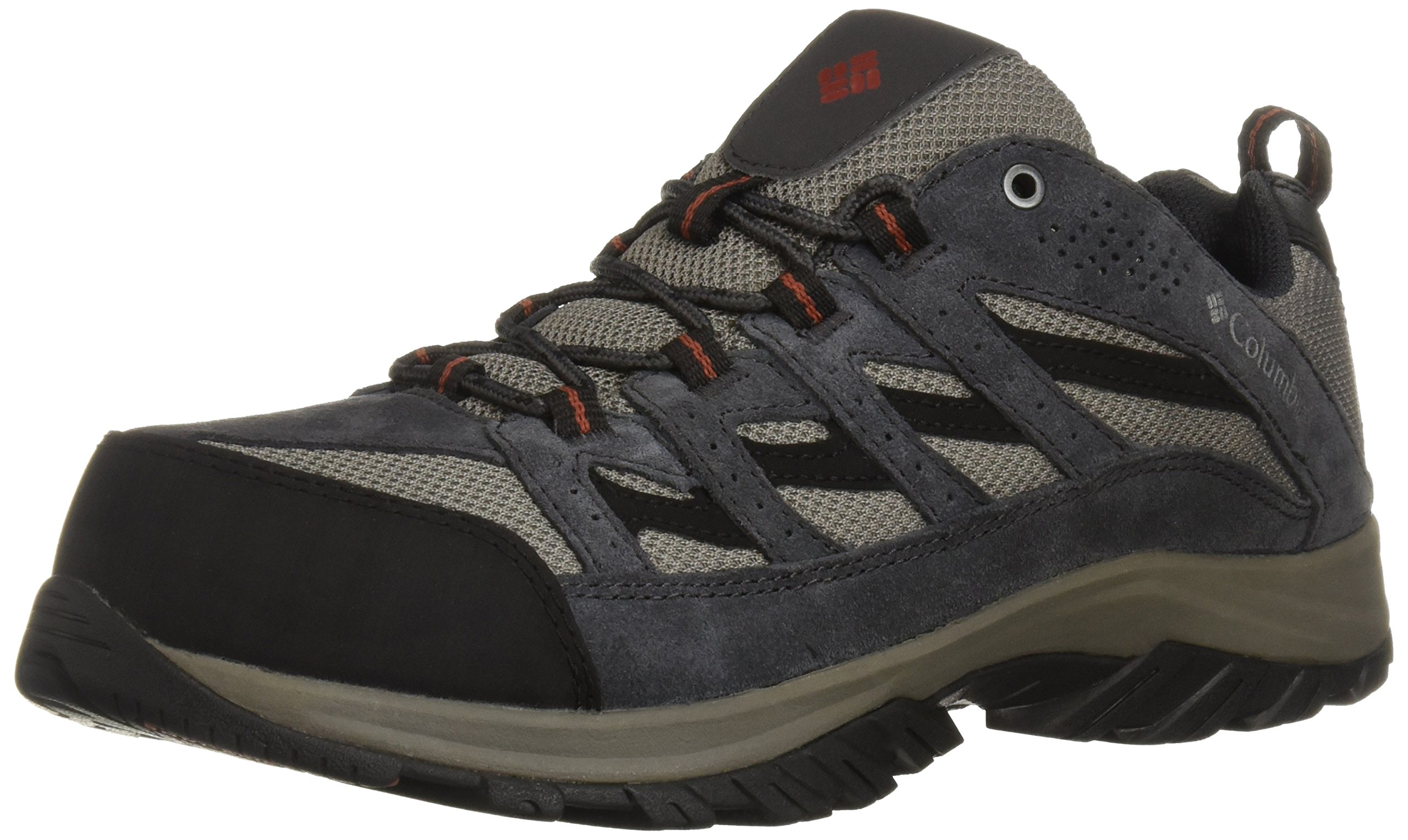 Columbia Men's Crestwood Wide Hiking Shoe, Quarry, Rusty, 14 US