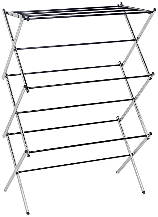 AmazonBasics Foldable Drying Rack - Chrome