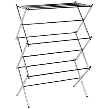 AmazonBasics Foldable Clothes Drying Laundry Rack - Chrome