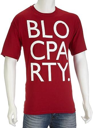362d82a6a3bb Men's Bloc Party - Big Letters T-Shirt: Amazon.co.uk: Clothing