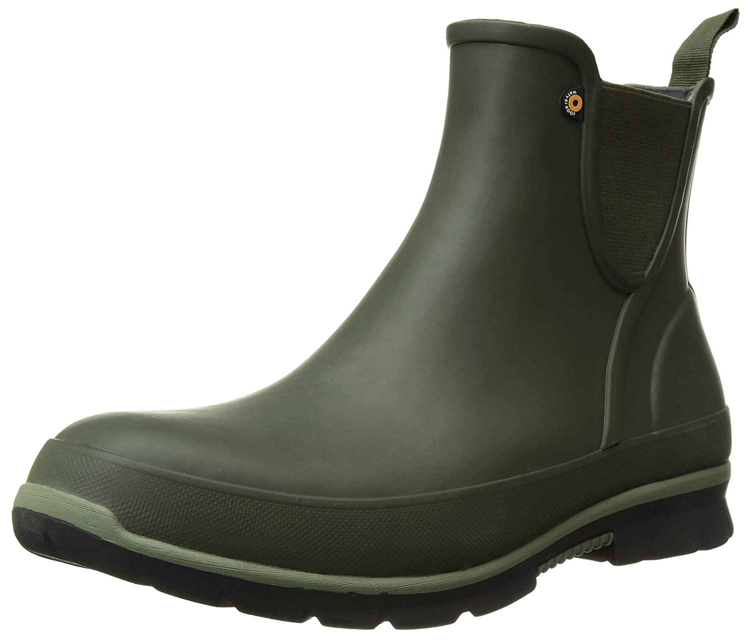 Bogs Women's Amanda Slip on Solid Rain Boot B073PJFLY9 11 B(M) US|Dark Green