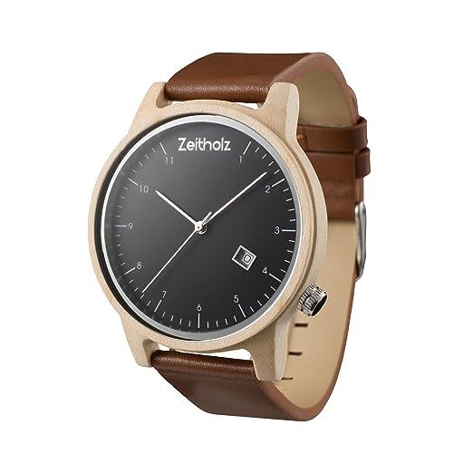 Reloj de madera ZEITHOLZ - Breitenbrunn - 100% de Madera de Arce y Correa de