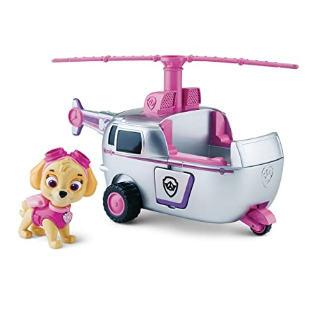 Amazoncom Paw Patrol Skyes High Flyin Copter Vehicle And Figure
