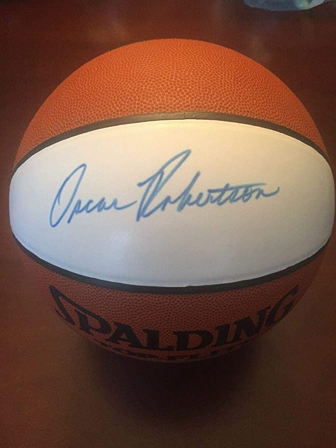 523e8f34c Oscar Robertson Signed Ball - COA! - JSA Certified - Autographed  Basketballs at Amazon s Sports Collectibles Store