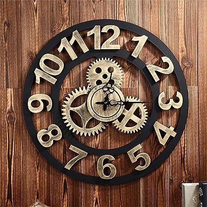 Relojes Retro Creativo Mode 50 cm (D)/20 pulgadas Silent Relojes de Pared
