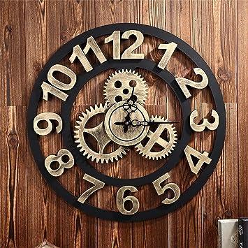 Relojes Retro Creativo Mode 50 cm (D)/20 pulgadas Silent Relojes de Pared, grandes pared ...