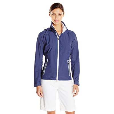 Zero Restriction Women's Hooded Olivia Packable Rain Jacket
