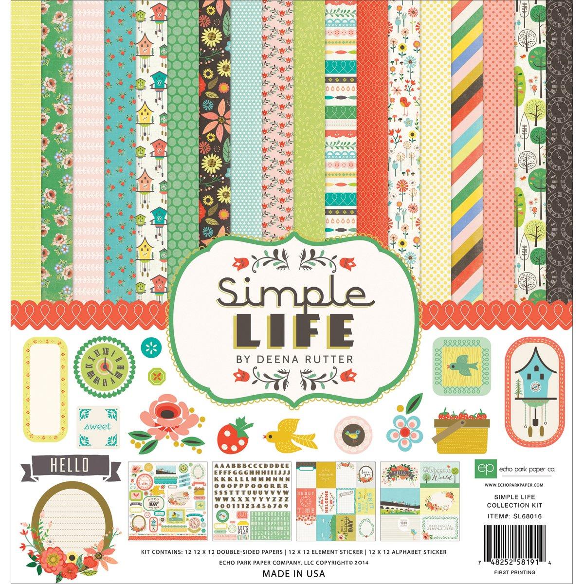Echo Park Paper Company Simple Life Collection Scrapbooking Kits by Echo Park Paper B00KQKJIWA