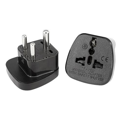 Uk To India Adapter Plug With Safety Shutter For Amazon Co Uk Electronics