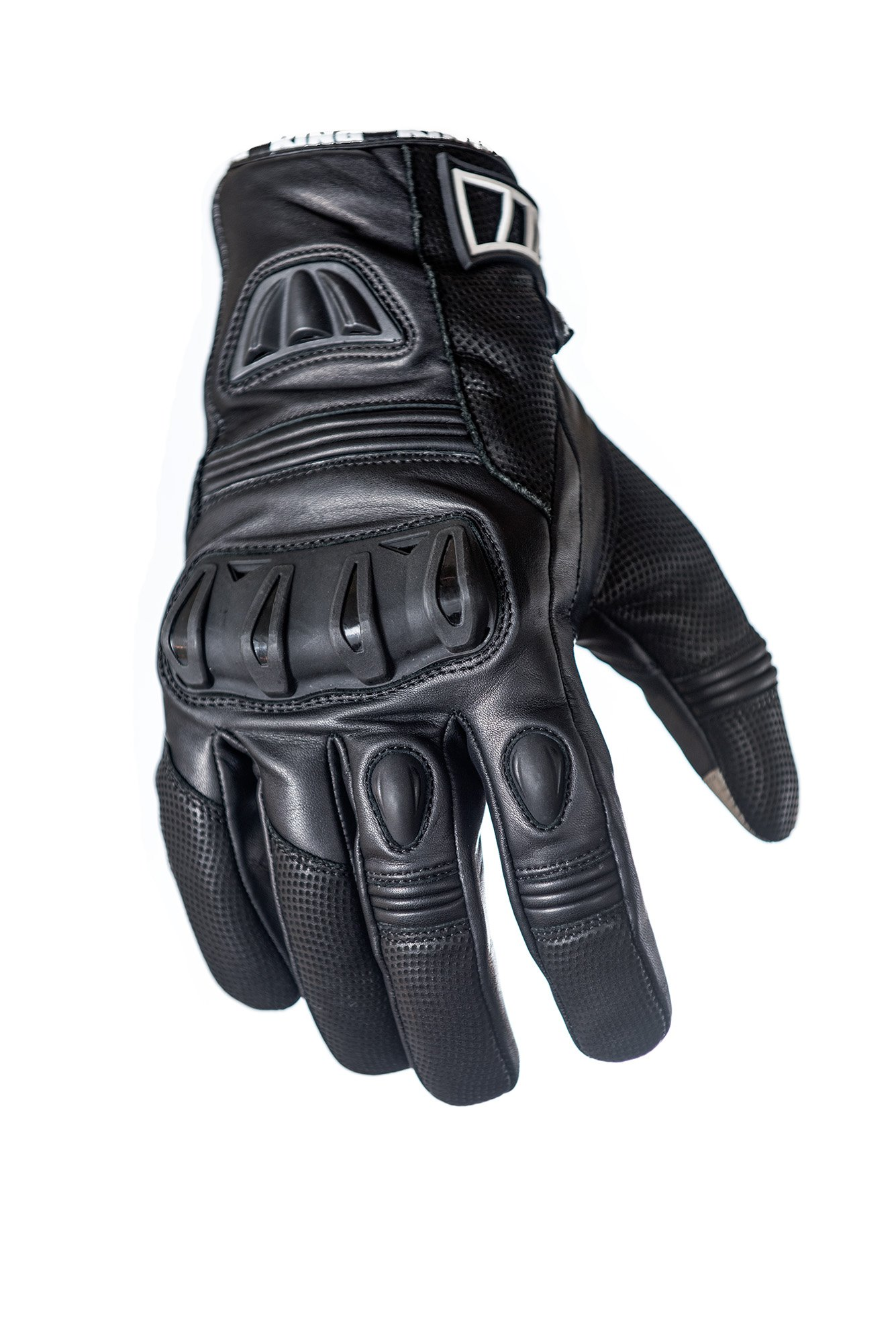 Protect the King Raven Premium Leather Motorcycle Sport Biker Gloves (XX-Large)