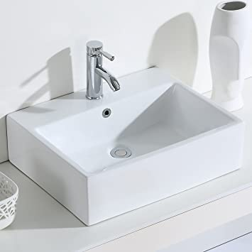 Eridanus Serie Monterosso Waschbecken Rechteckig Kermaik
