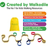 Walkodile Grab & Go (6Bambini)–qualità Premium, Insegnante Progettato per Bambini, Walk Corda, redini Bambino, Imbracatura di Sicurezza per Bambini