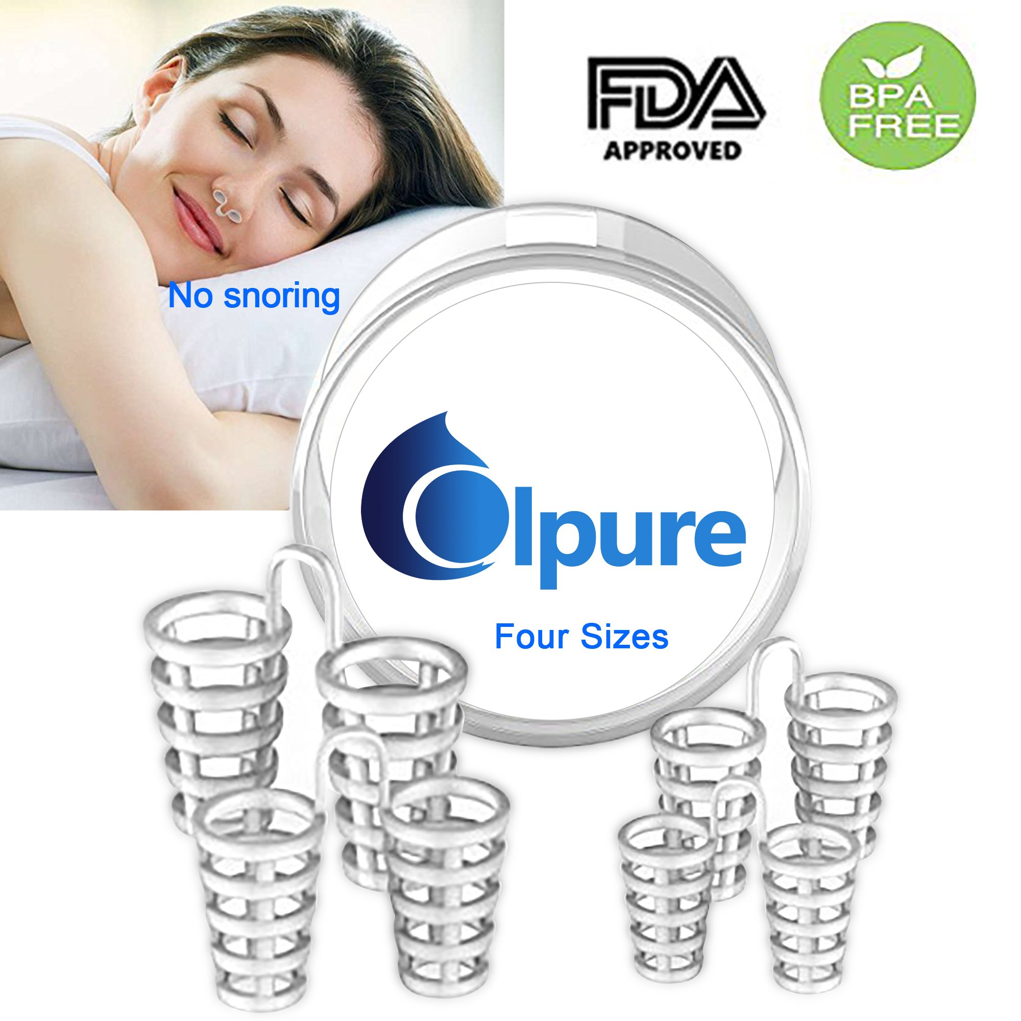 Coipur Anti Snoring Devices-Snoring Solution Nose Vents to Ease Breathing and Snoring-Stop Snoring Nose Vent Device for Natural and Comfortable Sleep, Instant, Fast and Safe Snore Relief-4 Sizes
