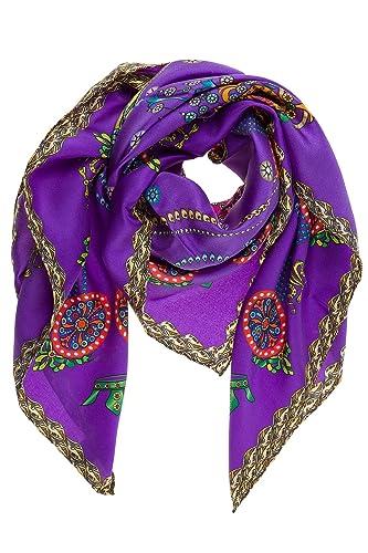 d Este pañuelos fulares bufanda de mujer en seda nuevo corona violeta