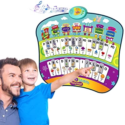 TECBOSS Learning Toys for 3 Year Olds, Talking Alphabet Poster for Learning ABC & Music, Interactive Educational Toys for Toddler 3 to 5 Year Old: Toys & Games