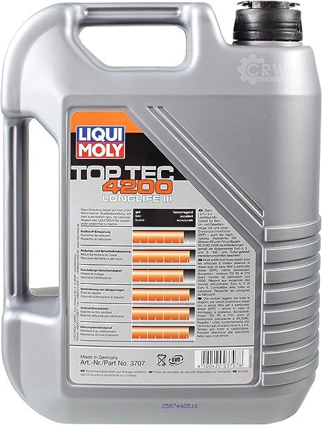 Filter Set Inspektionspaket 7 Liter Liqui Moly Motoröl Top Tec 4200 5w 30 Mann Filter Innenraumfilter Kraftstofffilter Luftfilter Ölfilter Auto