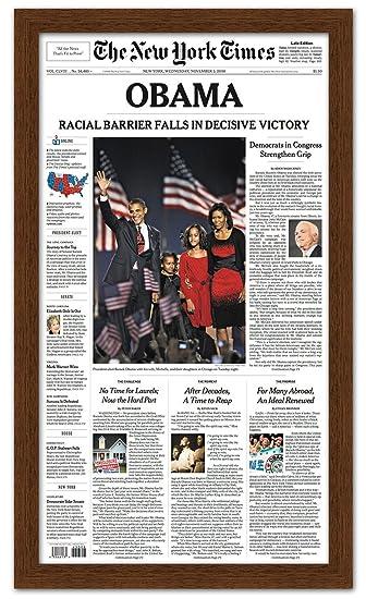 Amazon.com - Newspaper Frame - Made to Display Media Measuring 11x12 ...