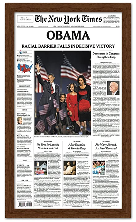 Amazon.com - Newspaper Frame with Mat - Made to Display Media ...