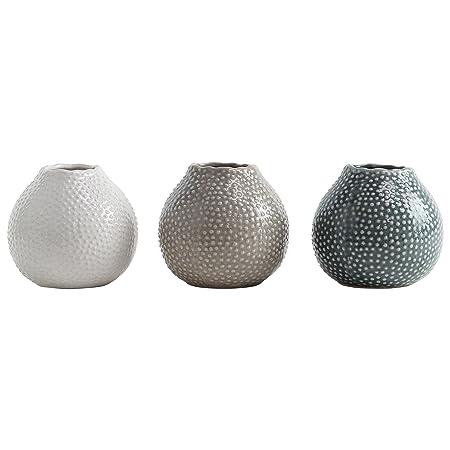 Set Of 3 Glazed Ceramic 11cm Sea Urchin Vases Amazon Kitchen