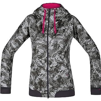 Gore Wear, Mujer, Chaqueta Cortavientos con Capucha, Gore C5 Women Gore Windstopper Trail Camo Hooded Jacket, 100114: Amazon.es: Deportes y aire libre