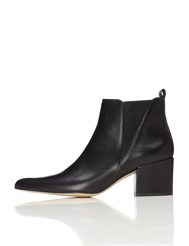 FIND Chelsea Stiefel Damen aus Leder mit Blockabsatz