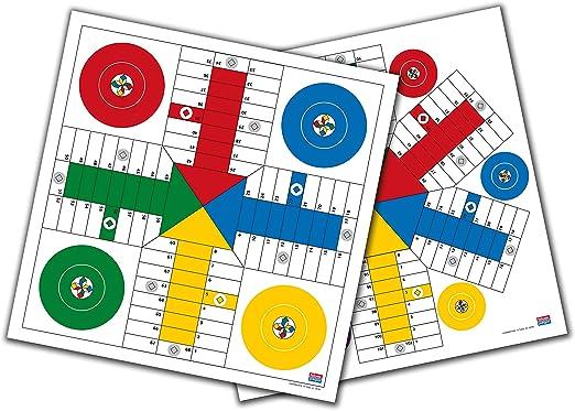 Falomir Tablero de Parchís para 4 y 6 Jugadores 40 cm Mesa. Juego Clásico. (27911): Amazon.es: Juguetes y juegos
