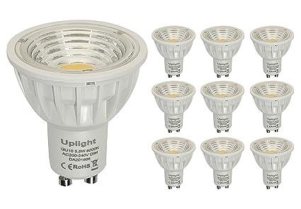 Regulable GU10 LED Bombillas Equivalentes 50-60W Halógenas 6000K Blanco Frío 5.5W RA90 550LM