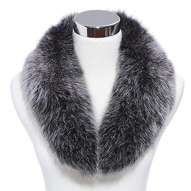 Renard Écharpe en fourrure - Hiver Mode Femme Foulard Echarpe Long Col en Fourrure  Véritable de 098ac7f3799
