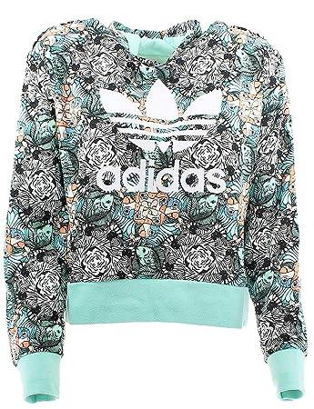 adidas J Zoo Hoodie Sweatshirt, Mädchen, Mehrfarbig (MULTCO MENCLA Blanco) ae8334c959