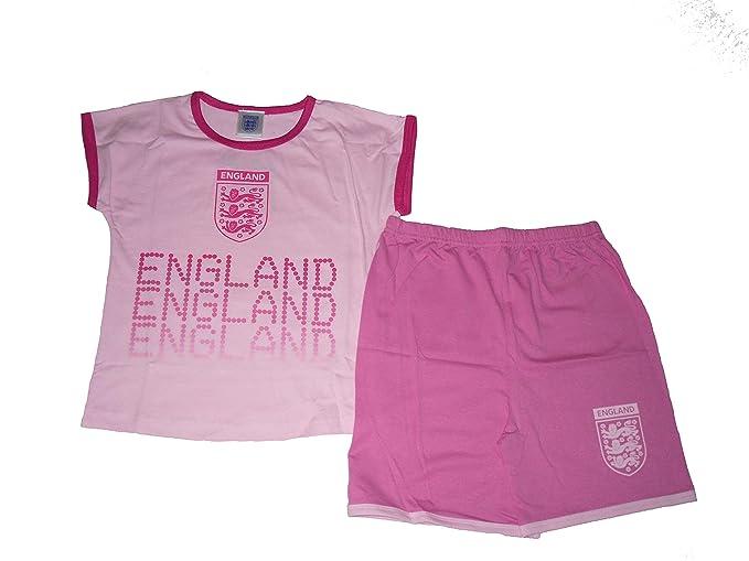 Selección de fútbol de Inglaterra pijama ropa de descanso para niñas: Amazon.es: Ropa y accesorios